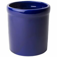 - Ceramic Utensil Crock Holder, Made In Usa, Blue