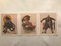 Norman Rockwell Prints, Lot Of 3, C. 1972, #7542, 7544, 7545