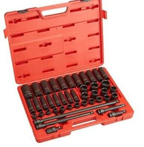 "Sunex Tools 2568 - 43 Piece 1/2"" Drive SAE Master Impact Socket Set"