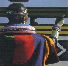 Afrika: Klappkarte: Ndebele-Frau bemalt ein Haus
