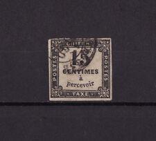 timbre France TAXE  carré  15c noir   num: 3   oblitéré