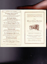 The Hour-Glass Stories Ad Brochure Funk & Wagnalls Co 1910s