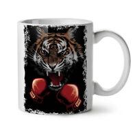Tiger Boxer Gloves NEW White Tea Coffee Mug 11 oz | Wellcoda