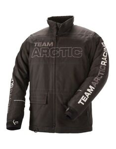 New Arctic Cat Team Arctic Advantage Snowmobile Coat ~ Black ~ Large - #5280-071