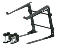 Odyssey Cases LSTAND New Versatile DJ Gear Laptop Stand - Black 3 Configurations