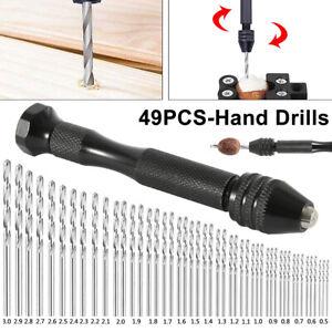 0.2-3.4mm Mini Tiny Micro HSS Twist Drill Bits Set Hand DIY Model Craft Tool Bit