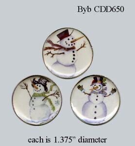 1:12 scale Snowman Platter Set Dollhouse Miniature Accessory
