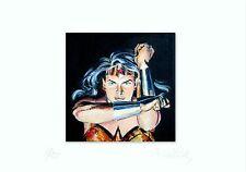 Wonder Woman Gemälde - Limitierte Replik auf Aquarellpapier