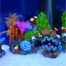 Resin Mounted Coral Reef Sucker Fish Tank Cave Aquarium Decoration Ornament
