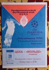 Programs CSKA Moscow - Molde Norway 1999