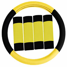 Car Steering Wheel and Pad Belts For Auto Car Most Vehicle Yellow