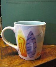 2010 Starbucks Hawaii Coffee Tea Mug Cup Turtle Surfboard Bone China 10 oz