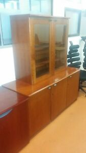 Mahogany Office Credenza Sideboard 1480mm x 570mm height 1725mm
