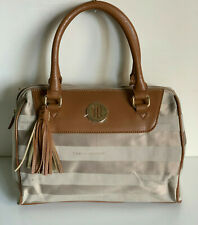 NEW! TOMMY HILFIGER CAMEL BROWN BOWLER SATCHEL DOCTOR BAG PURSE $79 SALE