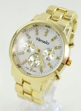 "Gold Round Men's Geneva 1.6"" Stainless Steel Fashion Wrist Watch #1Us seller"