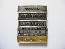 Lot de 5 agrafes ordonnances pour médailles diverses - LOT 05