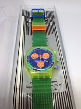 Swatch Chrono SCJ100 Neo Wave in OVP  1990 742 country code Chronograph Uhr