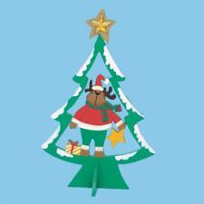 25cm en bois sapin de Noël avec personnage - VERT AVEC RENNE