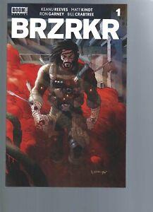 BRZRKR 1  -  1ST PRINT   - KEANU REEVES - MATT KINDT  - BOOM