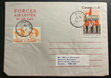 1977 Canadian Army PO 5051 In London England Air Letter Cover To Huron Park