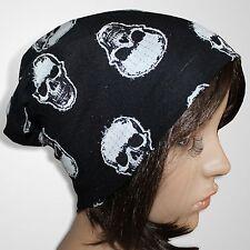 Long Beanie Mütze Damen Wintermütze Skimütze Damenmütze Skull Schwarz