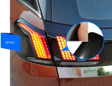 For Peugeot 3008 GT 2017 2018 Honeycomb Style Rear Tail Light Sticker Cover 1set
