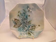 Vintage Porcelain Serving Plate Flowers Signed A Segner Handpainted Flowers