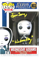 WEDNESDAY ADDAMS HAND SIGNED AUTOGRAPHED FUNKO POP TOY 803 WITH JSA PRISTINE COA