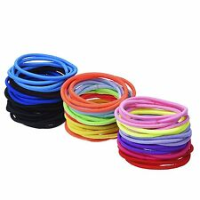 12 Multi-colour Hair Elastics Hair Ties Hair Bands Bulk Ponytail Holders