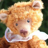 Alter großer Zimtfarbender Teddy Bär von Schildkröt m Flaggge u Stimme 45cm groß
