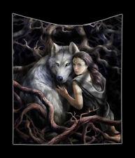 Couvre-lit avec loup - Soul Bond - Anne Stokes Câlin canapé-couverture PLAID