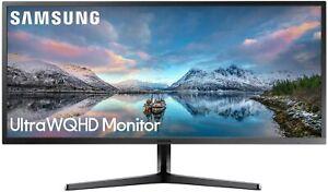 """SAMSUNG S34J550WQU SJ55W SERIES ULTRA WQHD 34"""" LED MONITOR HDMI 4MS GREY NEW"""