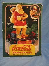 Christmas Coke Coca Cola Santa Claus Mechanical Ertl  Train Bank