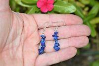 CHARGED Lapis Lazuli Designer Crystal Chip Earrings REIKI Energy! ZENERGY GEMS™