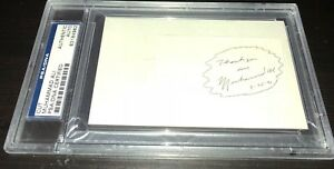 Muhammad Ali signed auto PSA/DNA cut on Index card Cassius Clay autograph
