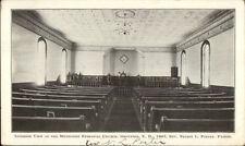 Groveton NH Church Interior c1900 Private Mailing Card