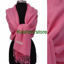 New Paisley Pashmina Silk Cashmere Shawl Scarf Stole Wrap Soft Pink #P304