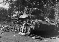 "WWII photo damaged tank of type 97 ""Chi-Ha"" of the Japanese tank division an/24k"