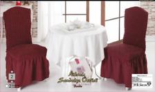 Stuhlhusse Stretch Universal Stuhlüberzug Stuhlbezug weinrot bordeaux rot