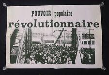 Affiche originale mai 68 POVOIR POPULAIRE REVOLUTIONNAIRE poster may 1968