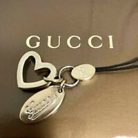 GUCCI Heart Gold Charm Key Ring Keychain From Japan Used FedEx or DHL or JP [K]