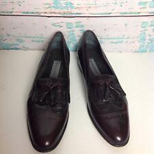Bruno Magli Brown WingTip Loafers Sz 15 Mens Shoes Cap Toe Slip On Tassel Dress