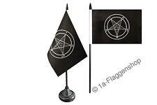 Tischflagge Tischfahne Baphomet Church of Satan 10x15cm Fahne Flagge