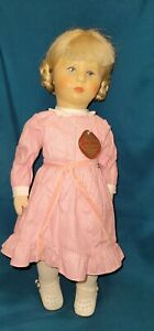 Vintage Kathe Kruse Stoffpuppe Girl Doll 18 inch