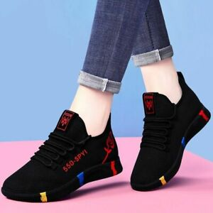 Women Tennis Sport Shoes Outdoor Breathable Anti-Slip Air Mesh Fitness Fabric
