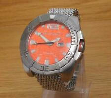 Mens XXL Shark Mesh Body-Glove 300m Water Sport Scuba Surfing Diver Watch Orange