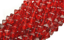 50 Ruby Red Bicone Czech Glass Beads 6MM