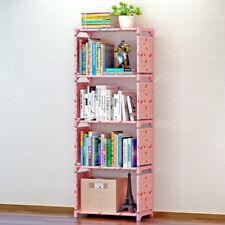 4 Cube Bookshelf Corner Bookcase Shelving Unit Book Shelf Storage Display Unit