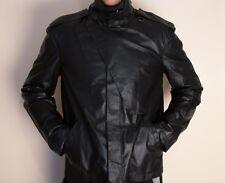 Gianni Versace leather Jacket men Giubbotto Pelle Nero Size 58