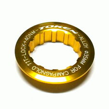 gobike88 TOKEN Lock Ring for Campagnolo Cassette, 11T, Gold, 002